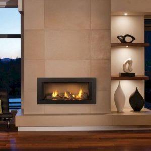 Kaminski vložki – ravno steklo modern dizajn